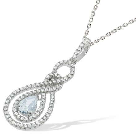 "Micro Pave Fancy Cz Pendant with 18"" Chain"