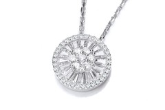 """Selling: Micro Pave Cz's Circle of Life Silver Pendant with 18"""" Chain"""