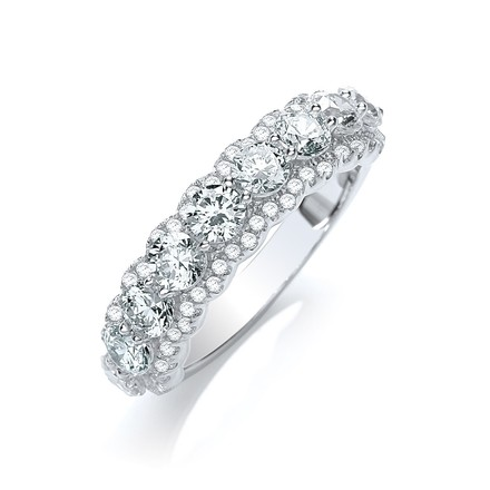 Selling: Micro Pave' 9 Cz Stone Ring with 54 Small Cz
