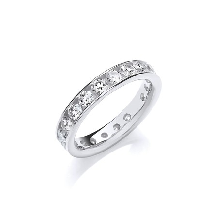 Selling: 4mm Full ET Rd/Bril. Cz Silver Ring