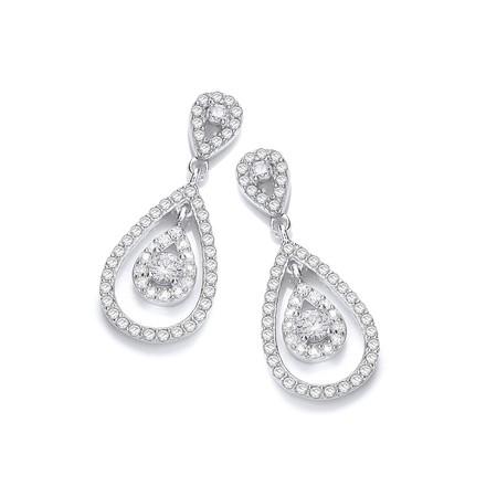 Selling: Micro Pave' Teardrop Cz Earrings