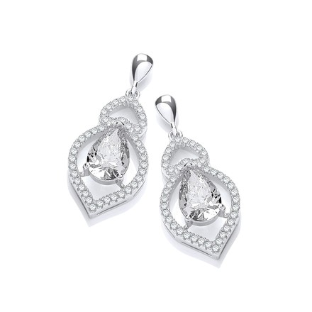 Selling: Micro Pave' Tear Drop Cz Earrings
