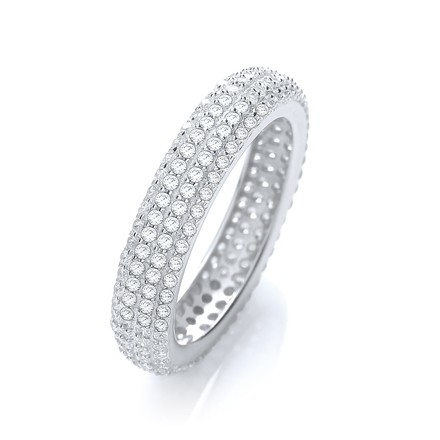 Selling: Micro Pave' Full ET Ring No Edge Cz