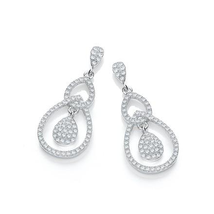 Selling: Micro Pave' Fancy Cz Drop Earrings