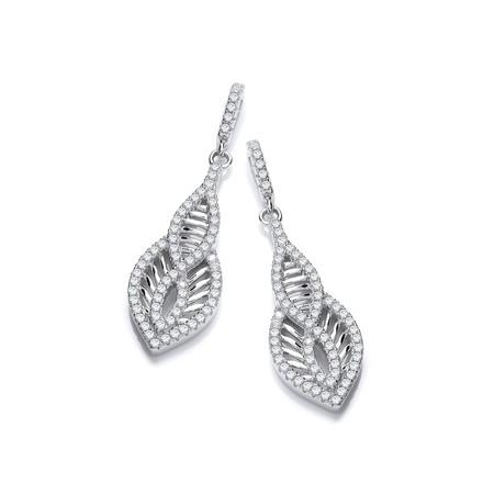 Selling: Micro Pave'  Cz Encrusted Teardrop Shaped Earrings