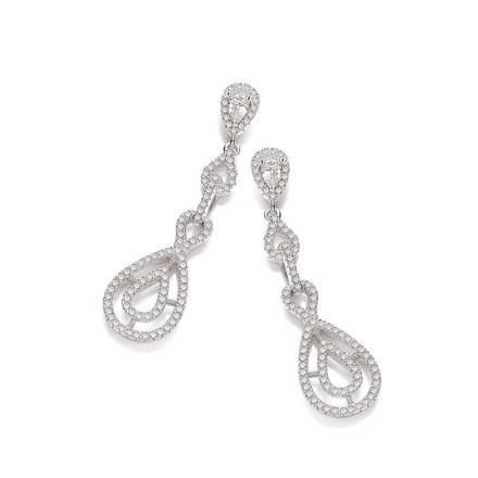 Selling: Micro Pave' Cz Fancy Drop Earrings