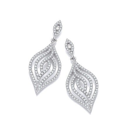 Selling: Micro Pave' Leaf Cz Earrings