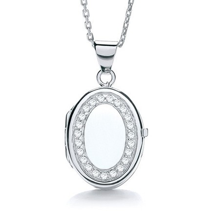 Selling: Oval Shape with Cz's Locket