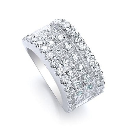 Selling: 2 Step Round Brilliant Cz Ring