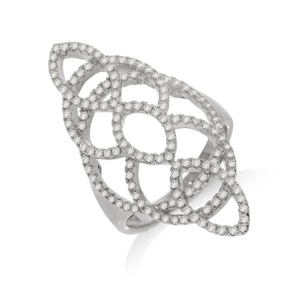 Selling: Micro Pave Silver Cz Ring