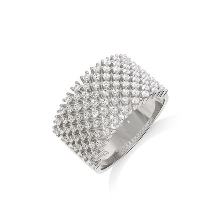 Selling: Micro Pave' Multi Row Cz Ring