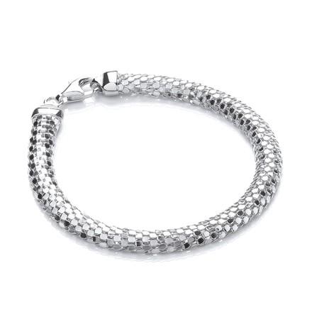Selling: D-Shape Silver Colour Mesh Bracelet