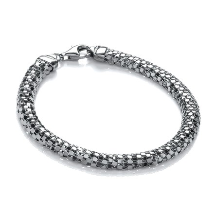 Selling: D-Shape Ruthenium Colour Mesh Bracelet