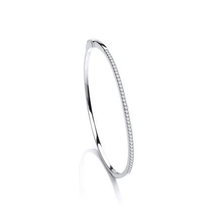 Selling: Silver CZ J-Jaz Bangle