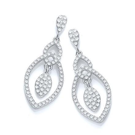 Selling: Micro Pave' Tear Drop Fancy Earrings