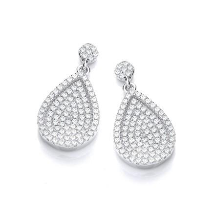 Selling: Micro Pave' Pear Shape Cz Drop Earrings