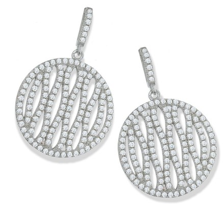 Selling: Micro Pave Fancy Round Drop Cz Earrings