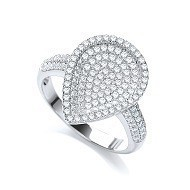 Selling: Micro Pave' Pear Shape with Cz on Shoulder Ring