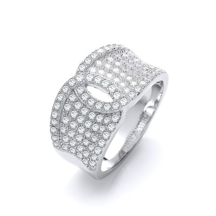 Selling: Micro Pave' White Cz Ring