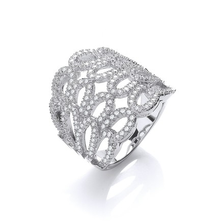 Selling: Micro Pave' Cz Fancy Ring