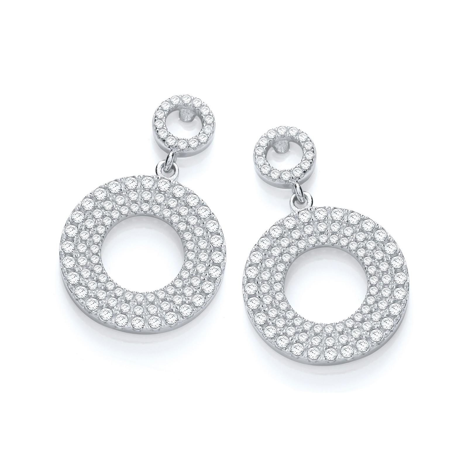Micro Pave'  Fancy Drop Earring
