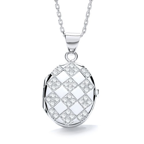 Oval Shape with Design of Cz's Locket