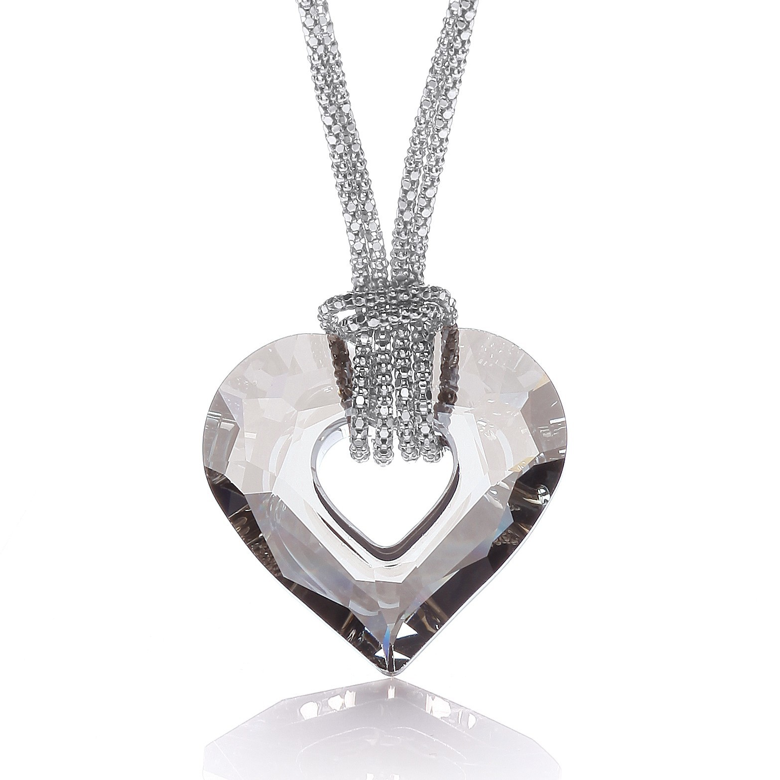 "Swarovski Crystal Heart Fancy Chain 17""/43cm"