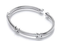 Selling: Torque Kisses Cz Wire Bangle