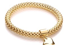 Selling: Yellow Mesh with Heart Pendant - Fancy Bracelet