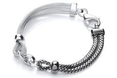 Selling: Ruthenium & Silver Mesh Bracelet