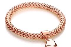 Selling: Rose Mesh with Heart Pendant - Fancy Bracelet