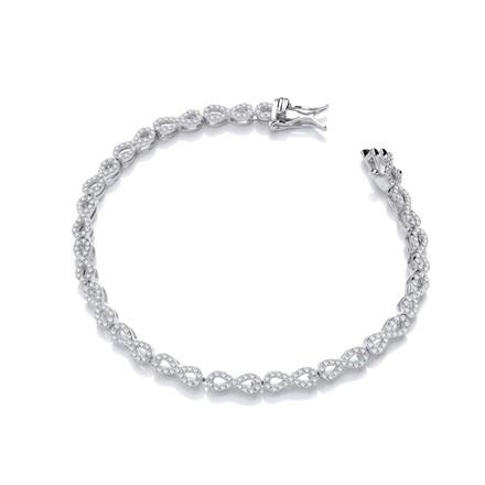 Selling: Infinity Tennis Silver Cz Bracelet