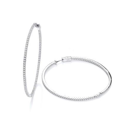 Selling: Micro Pave' 60mm Round Hoop CZ Earrings
