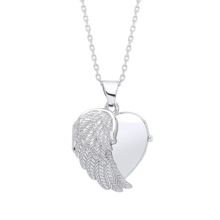 Selling: Angel One Wing Silver Locket