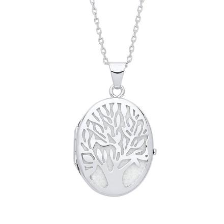Tree of Life Silver Oval Locket