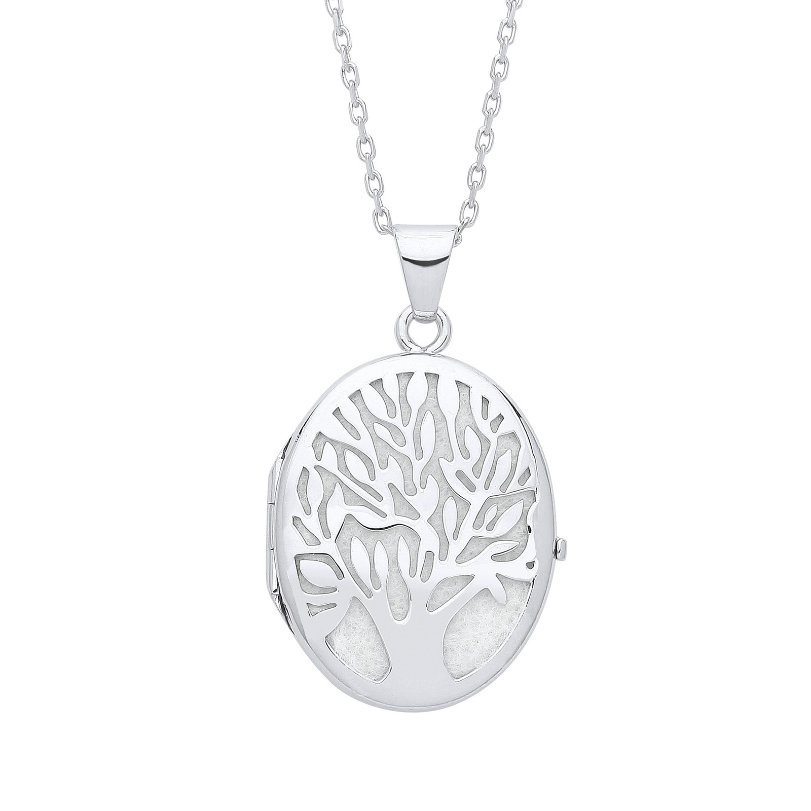 Tree of Life Silver Oval Locket