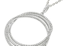 """Selling: Micro Pave 3 Row Round Cz Pendant with 18"""" Chain"""