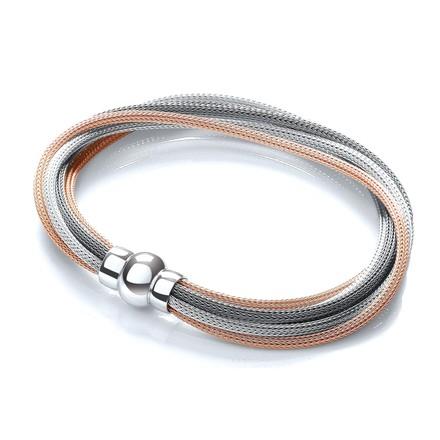 3 Tone (Rose, Silver & Ruthenium) Mesh Bracelet