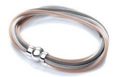 Selling: 3 Tone (Rose, Silver & Ruthenium) Mesh Bracelet