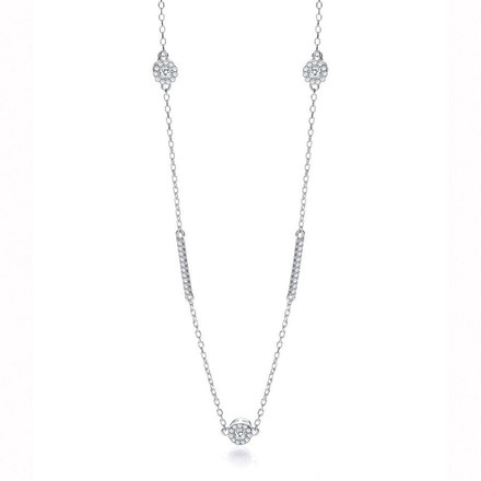 "Selling: Silver Diamond by the Yard Style 36"" Necklace"