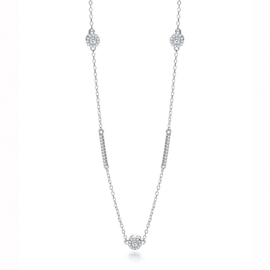 """Silver Diamond by the Yard Style 36"""" Necklace"""