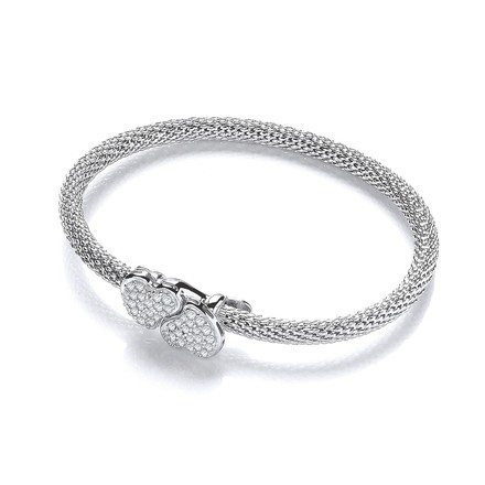 Selling: Light Pop Corn Heart Cz Bangle