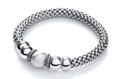 Selling: Mesh Ruthenium Finish Fancy Bracelet