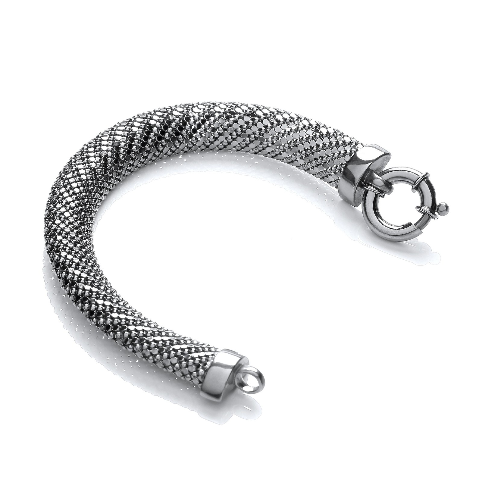 Ruthenium Plated Mesh Bracelet