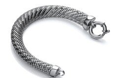 Selling: Ruthenium Plated Mesh Bracelet
