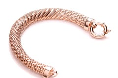 Selling: Rose Plated Mesh Bracelet