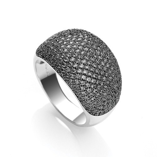 Micro Pave' Cocktail Ring 283 Black Cz