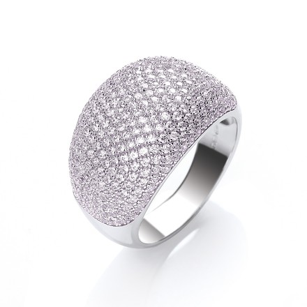 Selling: Micro Pave' Cocktail Ring 283 Pink Cz