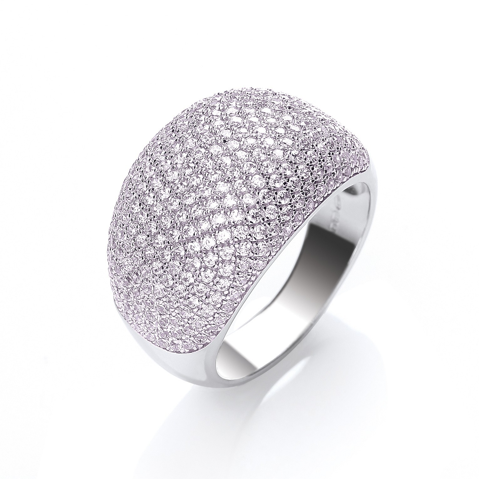 Micro Pave' Cocktail Ring 283 Pink Cz