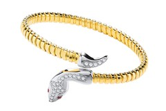Selling: Yellow Coated Silver Snake Bangle